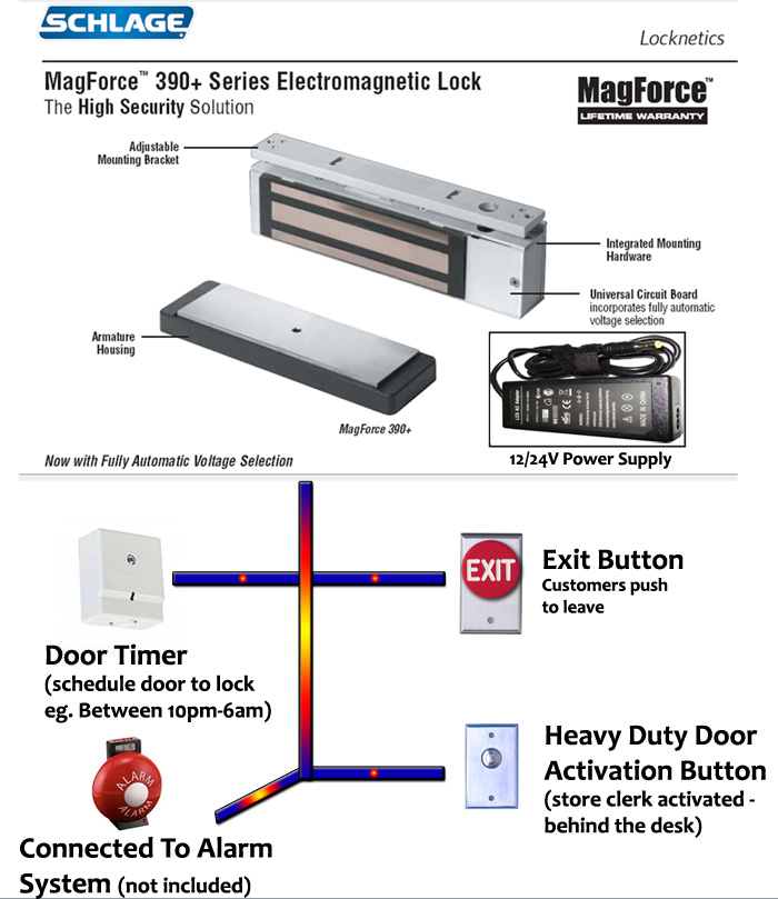 MagForce Electromagnetic Lock  sc 1 st  Condoor & Electronic Devices \u0026 Accessories fro Doors   Vancouver   Port Coquitlam