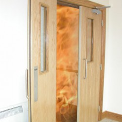 Fire Aided Door