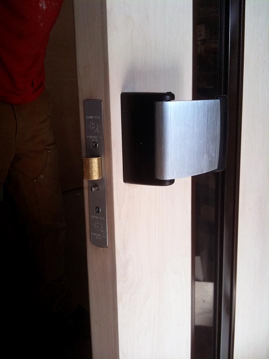 Wood Clading Over Metal Fire Door Sm Condoor Systems Inc