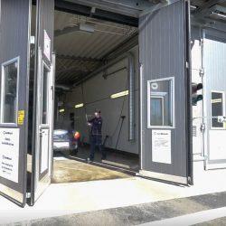 Service Station Folding Door